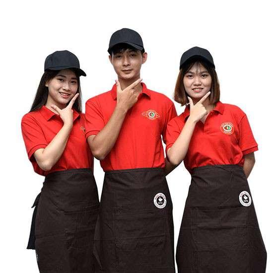 may đồng phục quán ăn, nhà hàng, quán cafe giá rẻ tại bình dương
