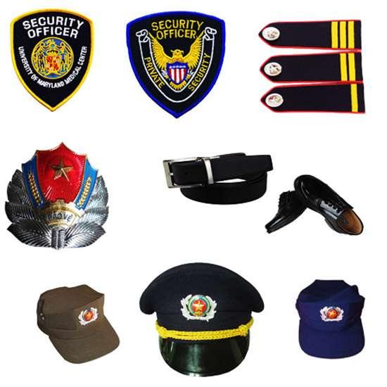 Phụ kiện đồng phục bảo vệ (Nón, Sao, Cầu Vai, Ve, Tạp dề, Thắt lưng)