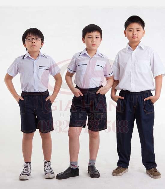 may quần áo đồng phục học sinh giá rẻ tại dĩ an