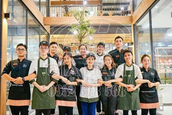 may đồng phục nhà hàng, khách sạn, quán ăn, quán cafe, quán bar giá rẻ tại tphcm